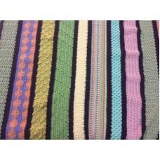 Crochet Sampler Blanket Course  - STARTS - Thur  22nd Mar 2018 - 6.30-8.30pm