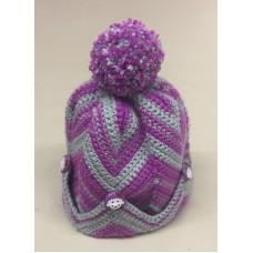 CROCHET KIT - Chevron Adult & Child Hat Kit
