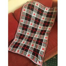 CROCHET KIT -Grannies Tartan Blanket