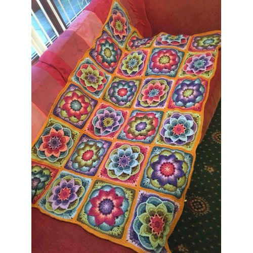 Polly Plums Crochet Lotus Moon Blanket Course Starts Tue 16th