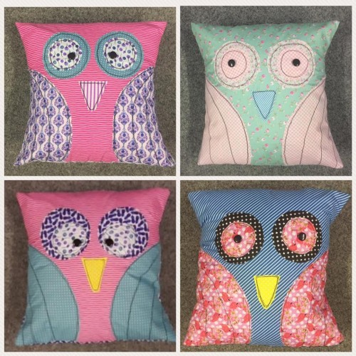 Free Motion Sewing - Owl Cushion - Fri 20th Apr 2018 - 1.00-3.00pm